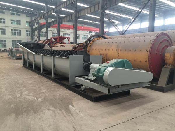 Spiral ore washer